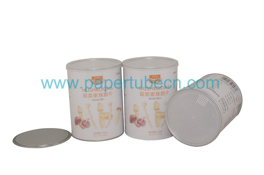 Tube Packaging Composite Dried Mushrooms Food Paper Canister