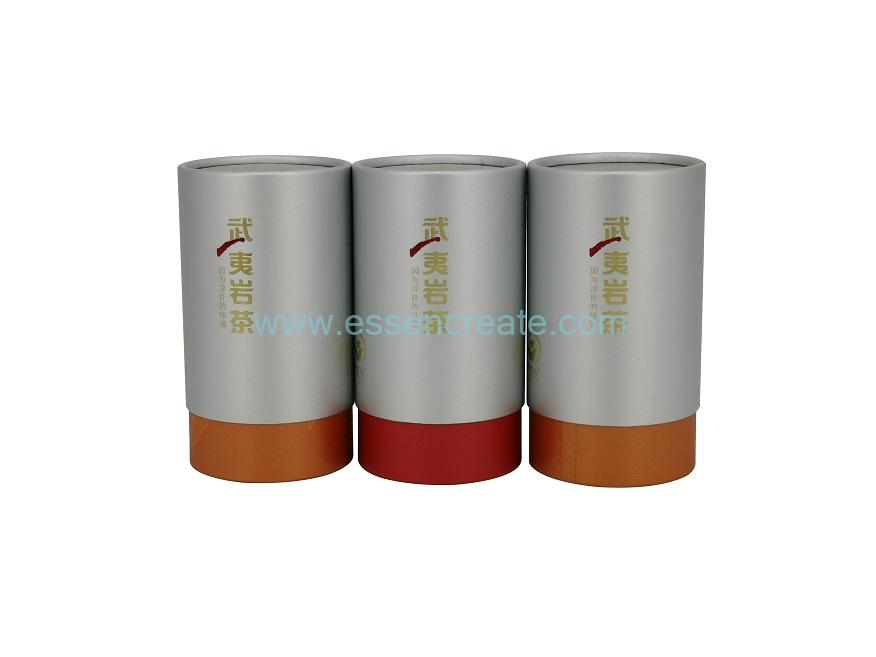 Two Pieces Cylinder Telescoping Tea Paper Packaging Cans