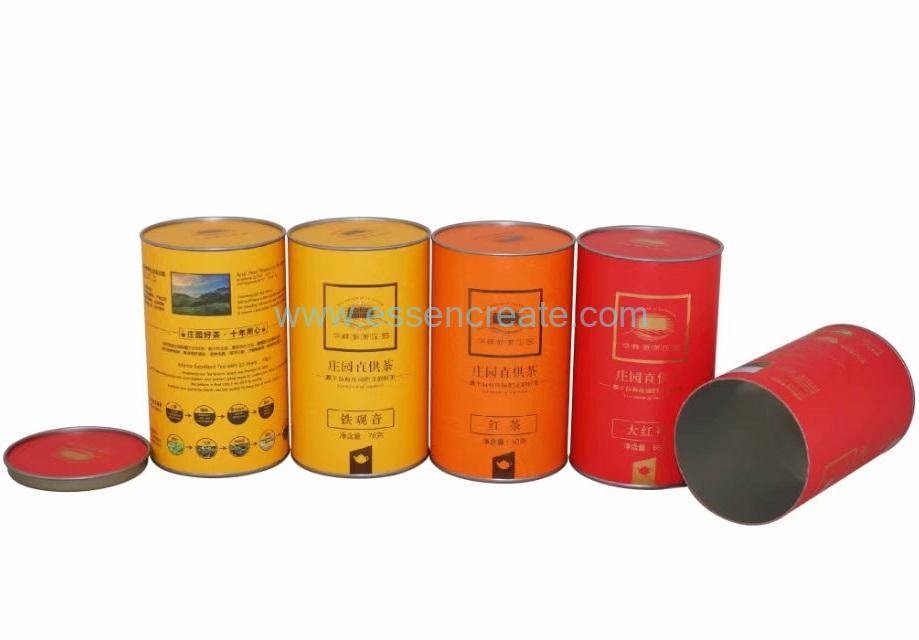 Custom Eco-friendly High Quality Tea Packaging Cans
