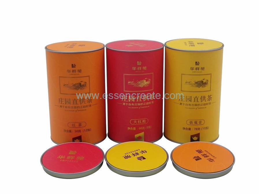 Paper Canister with Concave-convex Tin