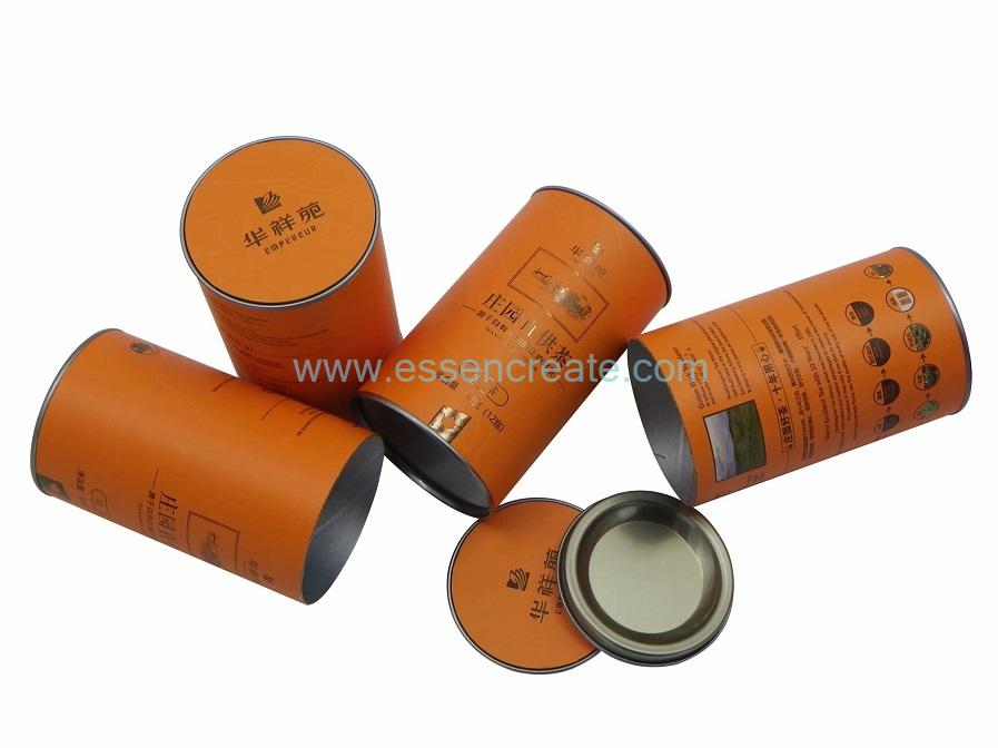 Composite Paper Cans with Metal Lid