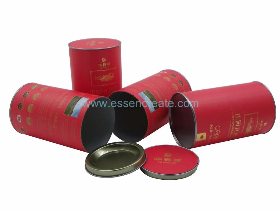Tea Packaging Cans with Paper Cardboard Insert Tin
