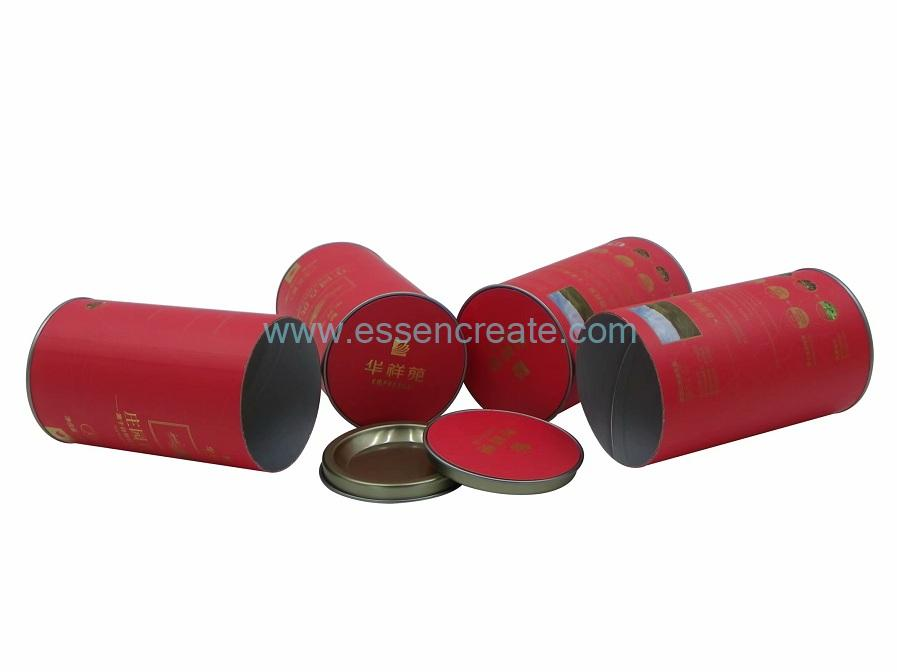 Airtight Paper Cans with Tin End