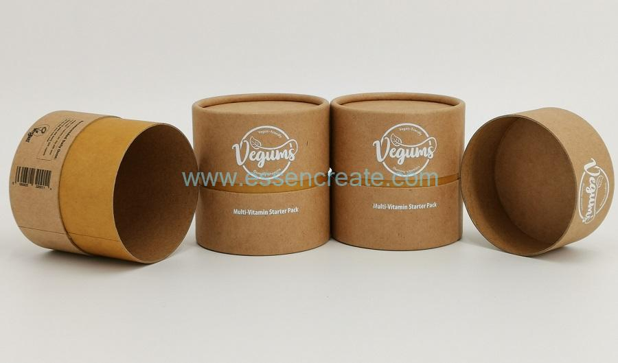 Completely Degradable Brown Kraft Rolled Edge Paper Tube