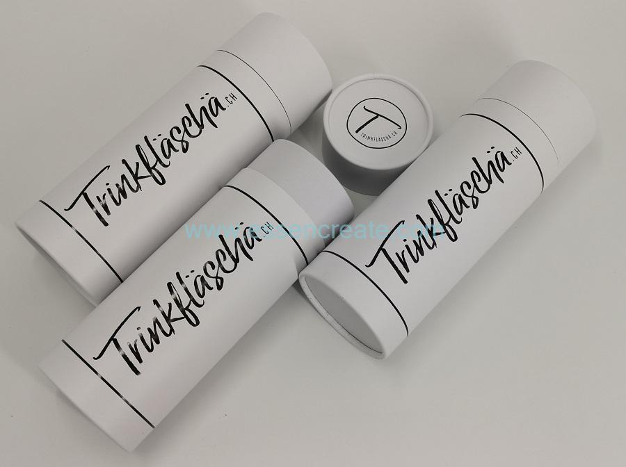 Round Cardboard White Tube Packaging