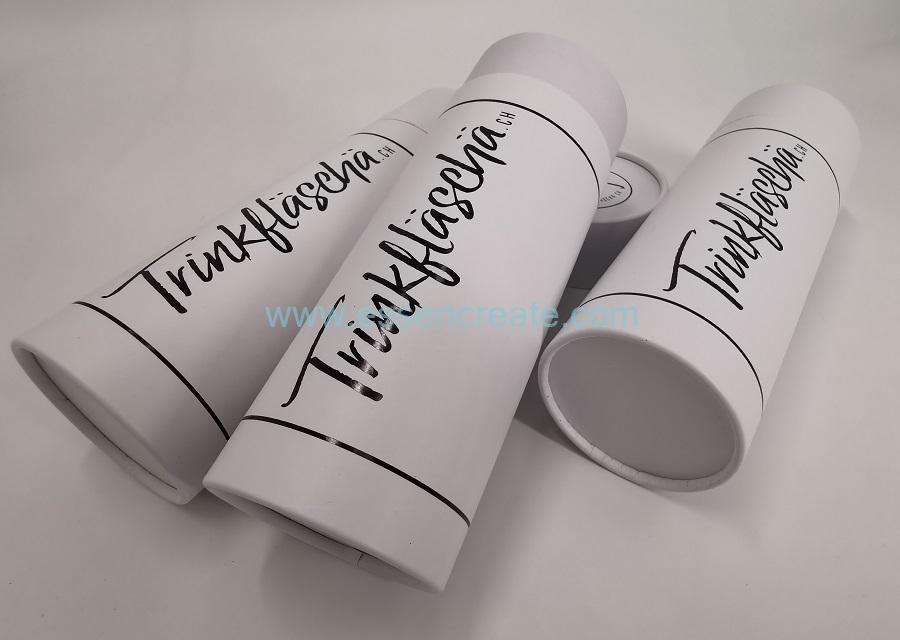 White Rolled Edge Paper Tubes