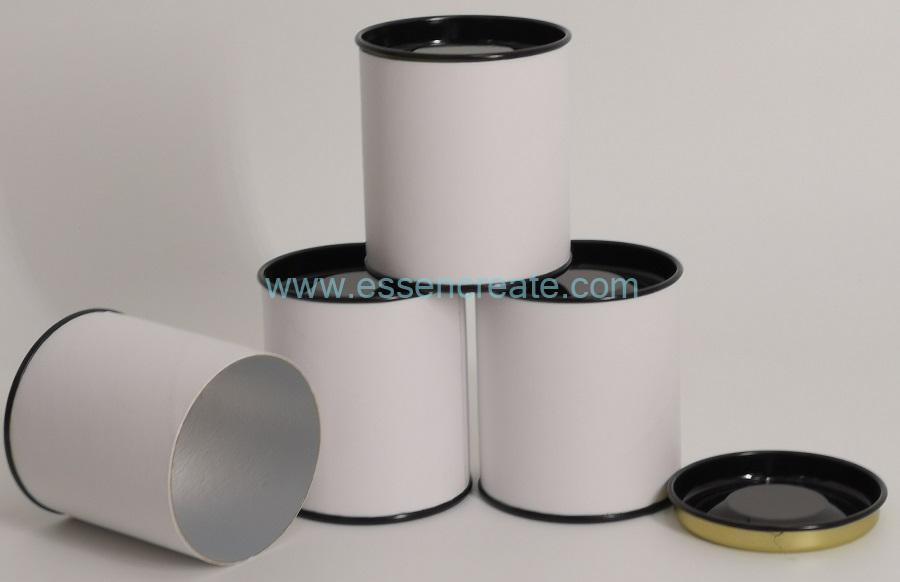 Paper Cans with Black Metal Lids