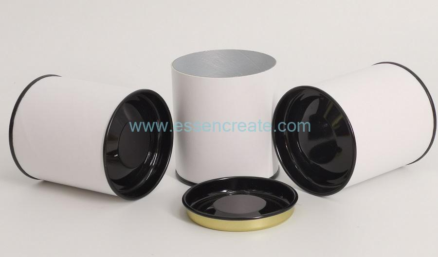 White Paper Metal Cans