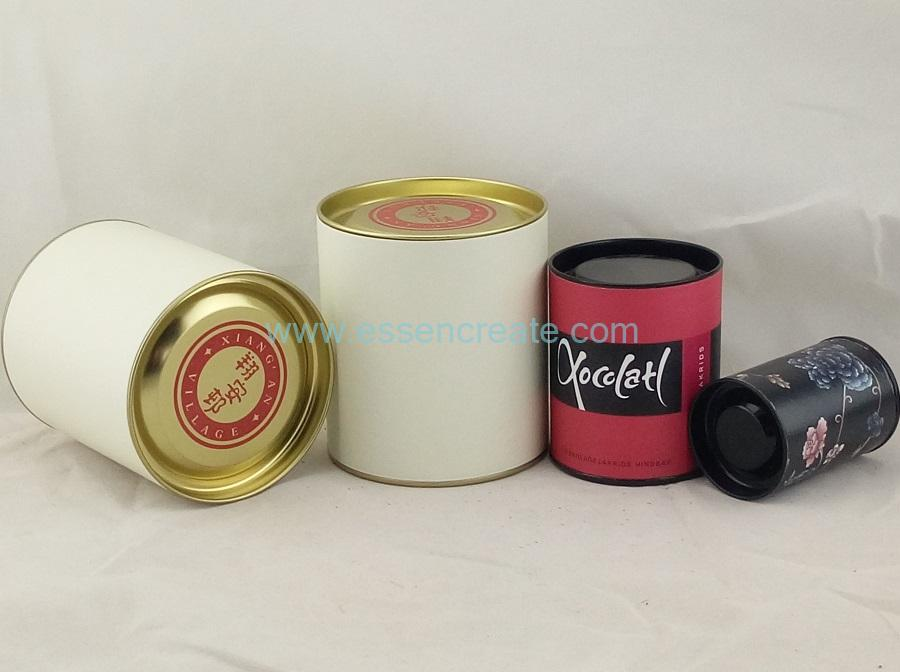 Paper Canister with Tin Lid