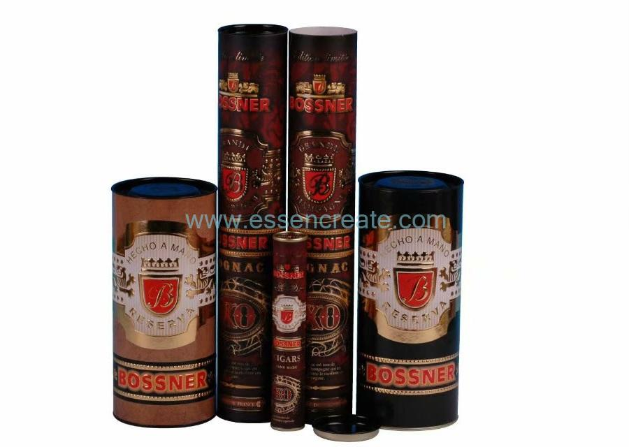 Champagne Packaging Paper Tube Embossing with Hot Stamping