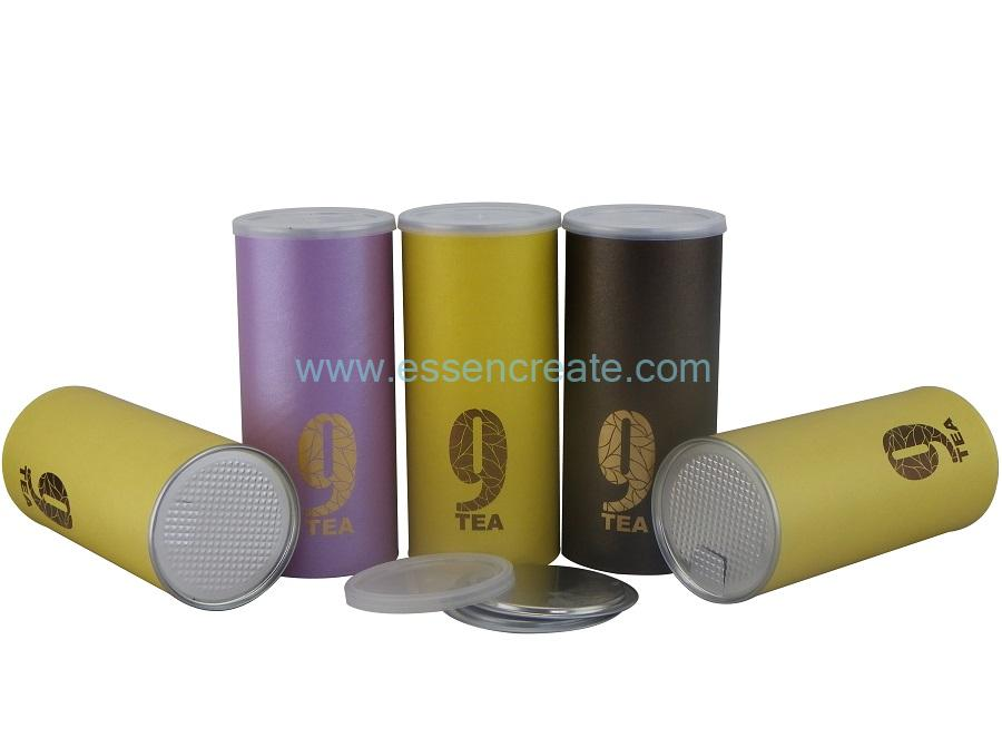 Paper Cans with AL Foil for Tea Packaging