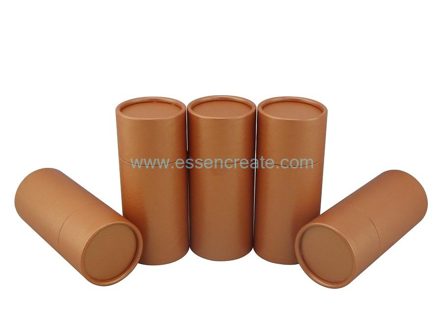 Burnt Orange Rolled Edge Cardboard Paper Packing Tube