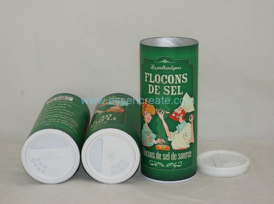 Salt Cans Spice Packaging Paper Tube Condiment Canister
