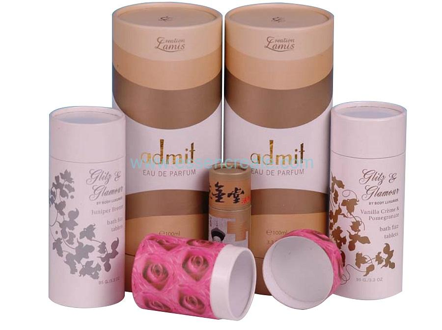 Custom Different Size Colorful Perfume Packaging Paper Tube