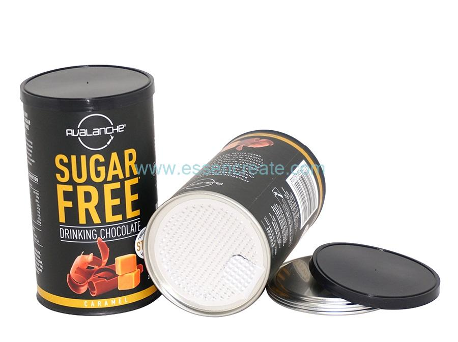 Custom Chocolate Sugar Canister Food Grade Paper Tube