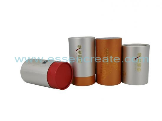 Telescoping Two Pieces Cylinder Tea Cans