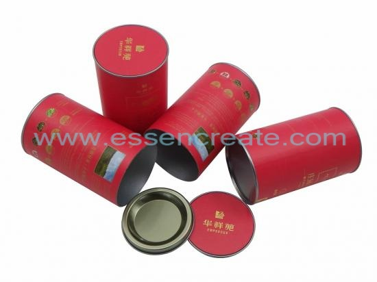 Paper Cans with Insert Tin End