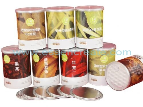 Paper Tube Tea Packaging Canister