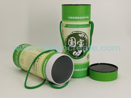 Rice Packaging Paper Cans with Rope Handle