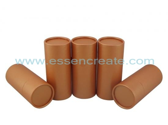 Burnt Orange Paper Cardboard Tube