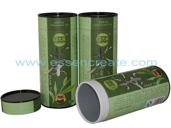 Oolong Tea Paper Packaging Tube