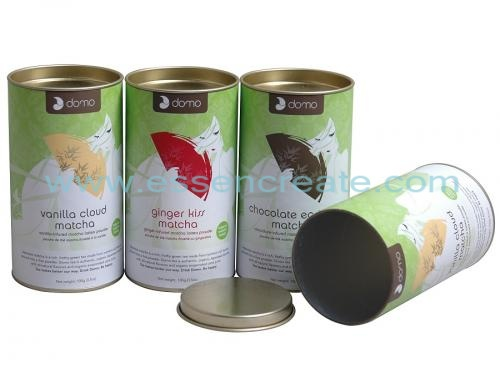 Matcha Tea Packaging Paper Canister